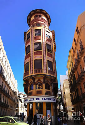 Spain Mixed Media - Malaga Architecture by Lutz Baar
