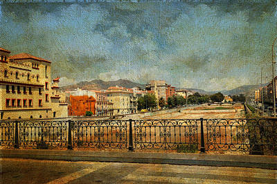 Photograph - Malaga. Bridge Over Guadalamedina River. Spain by Jenny Rainbow