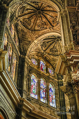 Malaga Cathedral IIi Print by Rene Triay Photography