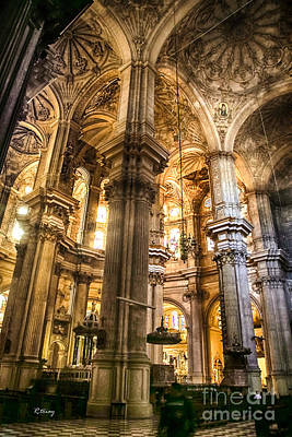 Malaga Cathedral V Print by Rene Triay Photography