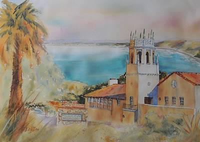 Impressionisttic Painting - Malaga Cove by Dodie Davis