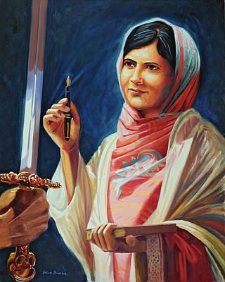 Taliban Painting - Malala Yousafzai by Steve Simon