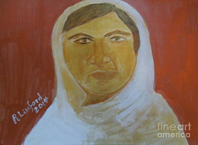 Taliban Painting - Honoring Malala Yousafzi Shot By Taliban For Championing Equal Rights To Schooling For Girls 1 by Richard W Linford