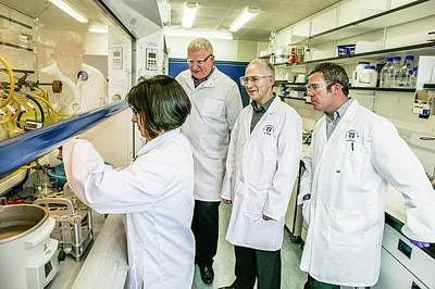Dundee Photograph - Malaria Drug Researchers by Gustoimages