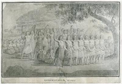 Malaspina Expedition 1789-1794. Tonga Print by Everett
