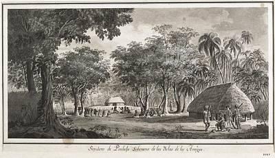 Malaspina Expedition. Tonga Islands Print by Everett