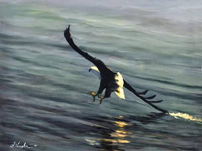 Malawi Painting - Malawi Fish Eagle by Sidney Vaughn