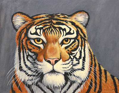 Malayan Tiger Portrait Art Print by Penny Birch-Williams