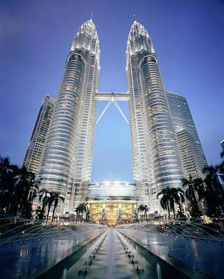 Photograph - Malaysia, Kuala Lumpur, Petronas Towers by Martin Puddy