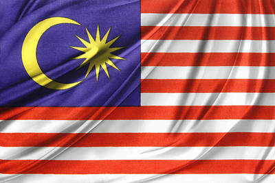 National Symbol Photograph - Malaysian Flag  by Les Cunliffe