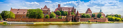 Fantasy Royalty-Free and Rights-Managed Images - Malbork Castle Panorama by Pati Photography