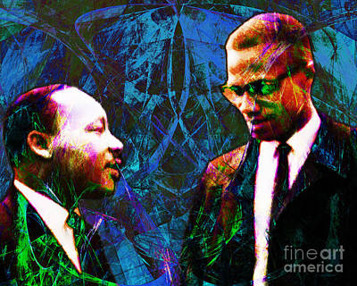 Malcolm And The King 20140205p180 Art Print by Wingsdomain Art and Photography