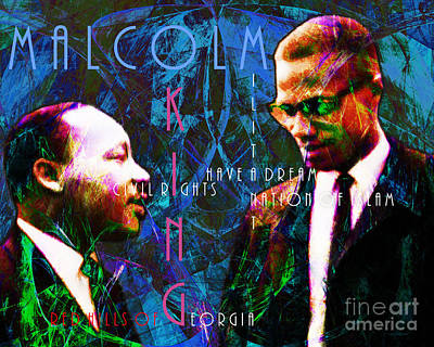 Malcolm And The King 20140205p180 With Text Art Print by Wingsdomain Art and Photography