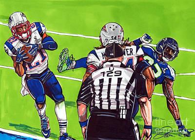 Malcolm Butler The Superbowl Interception Art Print by Dave Olsen