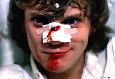 Malcolm Mcdowell As Alex In The Film Clockwork Orange By Stanley Kubrick 1971 Art Print