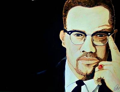 Malcolm X 2014 Art Print by Ken Higgins