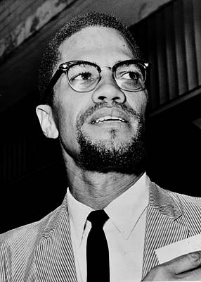 Malcolm X Wall Art - Photograph - Malcolm X by Benjamin Yeager