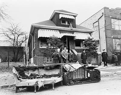 Malcolm X Painting - Malcolm X Home, 1965 by Granger