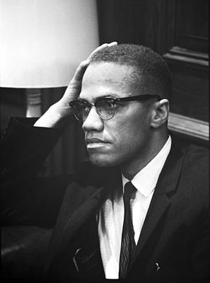 Sixties Photograph - Malcolm X by Underwood Archives Marion S Trikosko