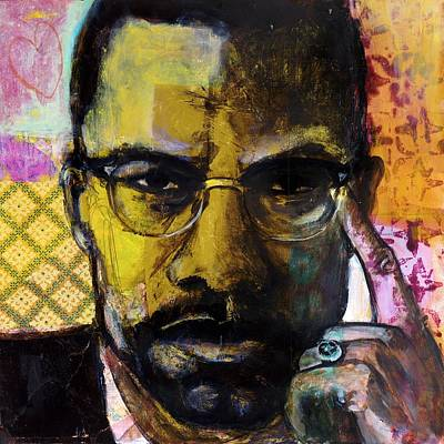 Malcolm X Art Print by Melinda Jones