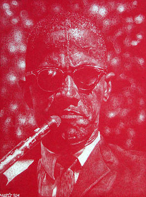 Drawing - Malcolm X by Michael Swanson