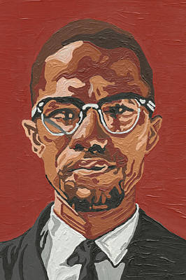Art Print featuring the painting Malcolm X by Rachel Natalie Rawlins