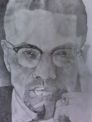 Malcolm X Art Print by Renee Rice