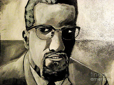 Painting - Malcolm X by Sidney Holmes