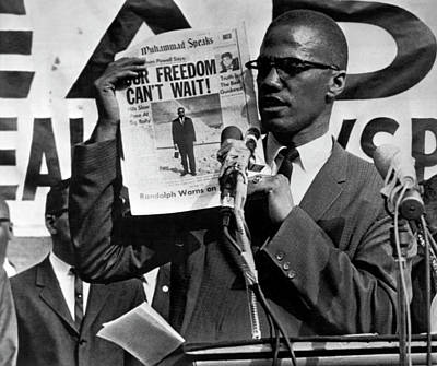 Extremist Photograph - Malcolm X Speaks by Underwood Archives