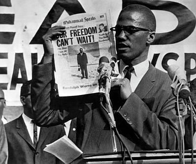Malcolm X Speaks Art Print