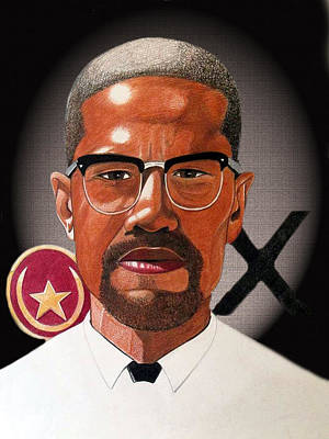 Malcolm X Art Print by Victor Carrington