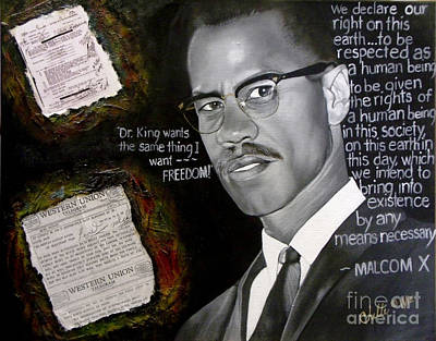Painting - Malcom X by Chelle Brantley