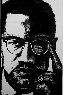 Malcom X Art Print by Karen Buford