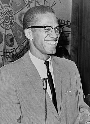 Malcom X Art Print by Mountain Dreams