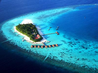 Photograph - Maldivian Resort. Aerial Journey Over Maldives  by Jenny Rainbow