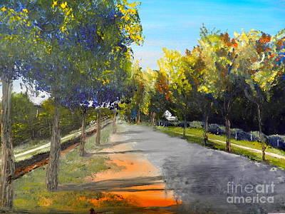 Maldon Victoria Australia Art Print by Pamela  Meredith