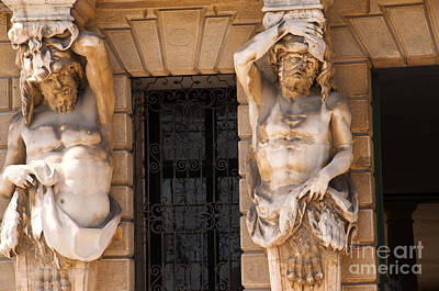 Photograph - Male Caryatids by Brenda Kean