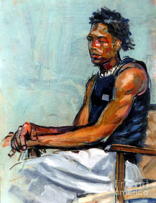 Painting - Male Figure Sitting by Stan Esson