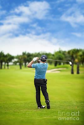 Peg Game Photograph - Male Golf Player  by Anek Suwannaphoom