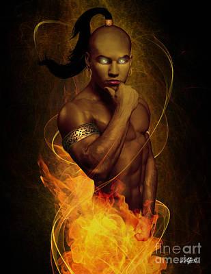 Male Ifrit Djinn Art Print by Pixl Vixl