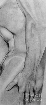 Male Nude 2 Art Print by Stefano Campitelli
