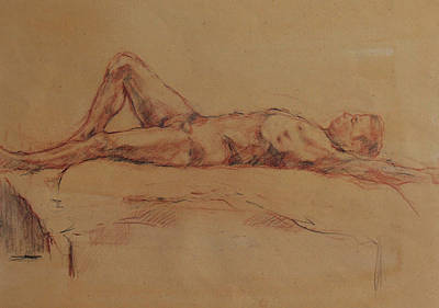 Drawing - Male Nude 3 by Becky Kim