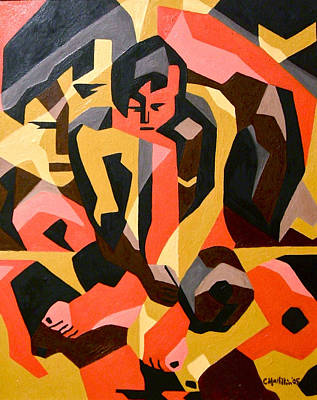 Painting - Male Nude by Carol Tsiatsios