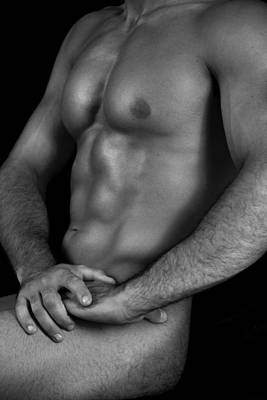 Exposed Photograph - Male Nude  by Mark Ashkenazi