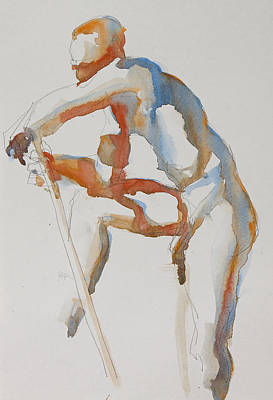 Painting - Male Nude by Pablo Rivera