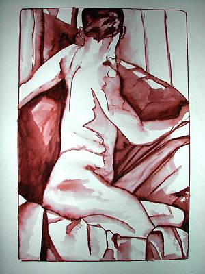 Painting - Male Nude by Rebecca Tacosa Gray