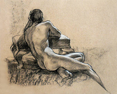 Drawing - Male Nude by Roz McQuillan