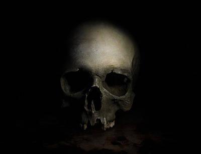 Male Skull Art Print by Jaroslaw Blaminsky