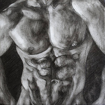 Painting - Male Torso I by Rudy Nagel