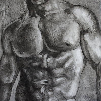 Painting - Male Torso II by Rudy Nagel